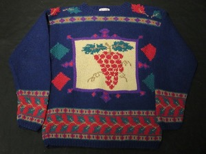 70's Grape Motif  Knit