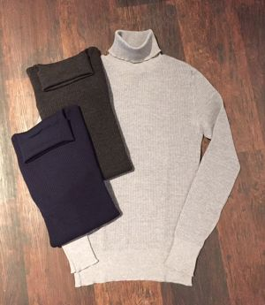OLDDERBY KNITWEAR WOOL THERMAL TURTLE NECK L/S