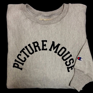 PICTURE MOUSE■champion reverse weave SWEAT(GRAY)