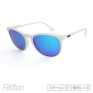 "サングラス「DANG SHADES」""FENTON"" MATTE WHITE x BLUE MIRROR POLARIZED 【ミラーレンズ】【偏光レンズ】"