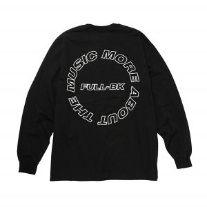 FULL-BK  -  ABOUT THE MUSIC L/S TEE  (BLACK) -