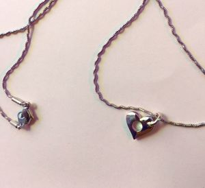HEART HOLE Necklace silver #1777
