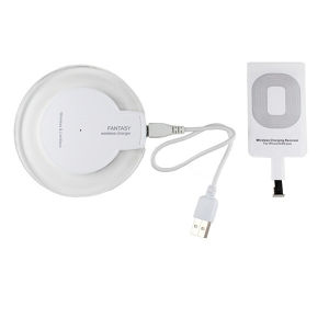 iPhone/Android Qi 無接点充電 充電器台 充電パッド Qi規格対応 置くだけ充電器 発光ワイヤレスチャージャー 充電パッド
