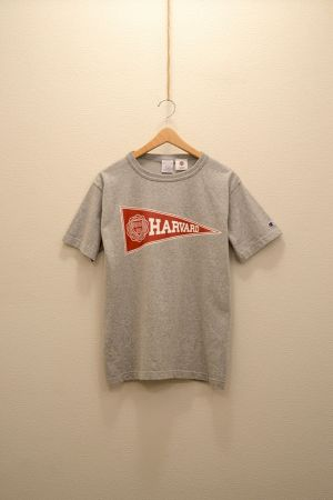Champion - T1011 Crew Neck College Print T Shirt (Harverd)