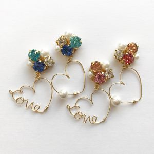 Love Heart bijou pierce or earring