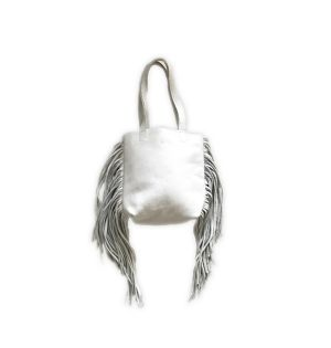 Fringe tote bag(white)