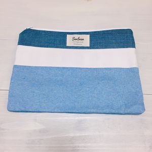 【6/17販売】Denim clutch bag R9(Light Blue)