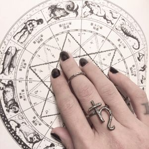 【●真鍮製 Ring Set】 Planet ring&branch Midi ring
