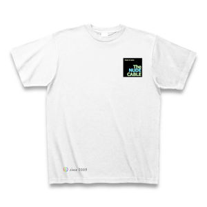 Tシャツ【PEACE&MUSIC】ブラック NUDE CABLE spring collection 2017