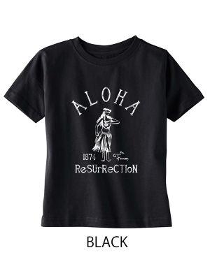 [KID] ALOHA RESURRECTION TEE BLACK