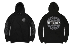 BUTTER GOODS SHADE WORLDWIDE PULLOVER HOOD BLACK サイズM
