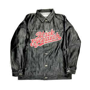 BLACK EYE PATCH DENIM JACKET