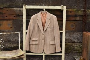 70s vintage Harris Tweed tailored JKT
