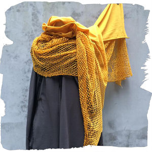 PLAIN CORNICE SCARF - ACS1117 YELLOW
