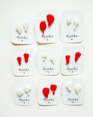 Colorful8nch. Blood and Milky ピアス&イヤリング(大) *(L) Blood and Milky earrings by colorful8nch.