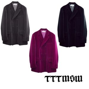 TTT_MSW VELOUR DOUBLE-BRESTED JACKET
