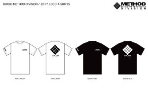 BORED METHOD DIVISION / 2017 LOGO-T SHIRTS(USA COTTON)