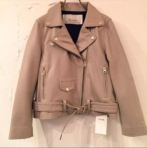 再入荷 CaNARi 2016AW lamb leather riders jacket.[Beige]