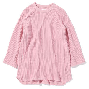 "16SS-0049 ""3/4 HEAVY THERMAL TEE"" - PINK"