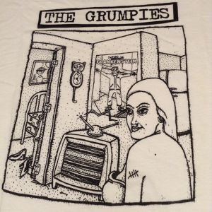 the grumpies / who ate stinky? t-shirt white:small