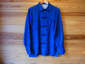 The dawn B / CHINA SHIRTS indigo hemp