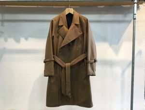 "semoh""wool/cashmere trench coat camel"""