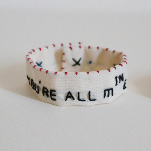 "刺繍ブレスレット""You're all mine (You're all in me)"""