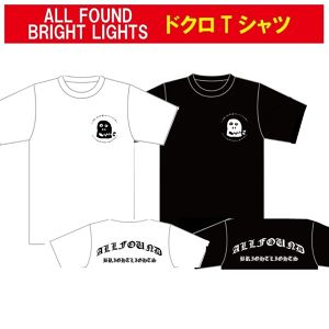 ALL FOUND BRIGHT LIGHTS ドクロ T-SHIRTS