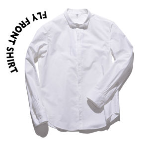 Fly front shirts [WHITE]