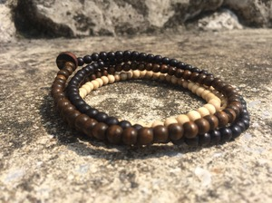 GOODWOOD NYC 5mm wrap braceret BRN,NATURAL,BLK