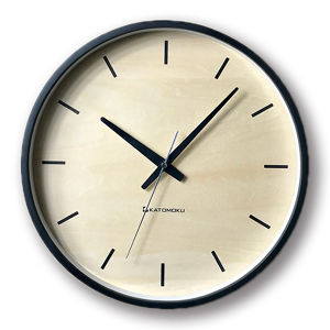 KATOMOKU plywood wall clock 5 km-50BRC 電波時計