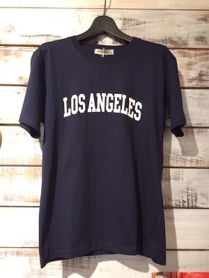 LOS ANGELES ロゴTEE Navy size L