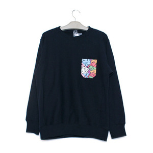 RAZZLE / UGM POCKET CREW NECK / BLACK