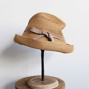 mature ha.(マチュアーハ)BOXED HAT 11cm mix brown × pink beige 送料無料
