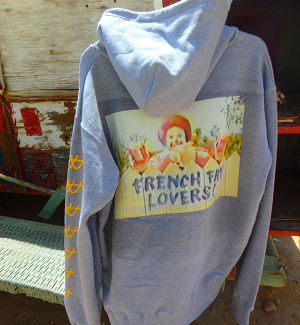 FRENCH FRY LOVERS HOODIE GRAY