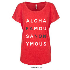 [WOMAN]ALOHA FANON TEE -VINTAGE RED-