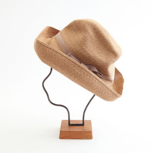 mature ha./BOXED HAT 101 mixbrown×pink beige