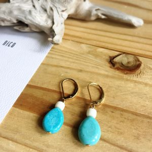 【14kgf】Turquoise03~サーフィン&ビーチピアス~