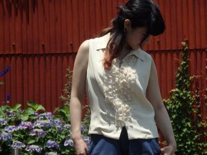 Sleeve less Lace Blouse