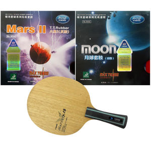 Pro Table Tennis PingPong Combo Racket: Galaxy Mercury 15 with  Mars II and Moon Factory Tuned Rubbers