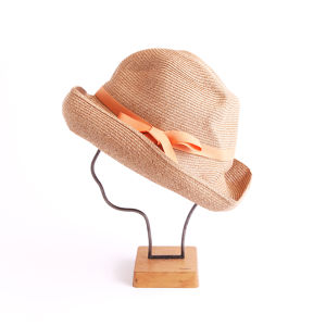 mature ha./BOXED HAT 101 mixbrown×light orange