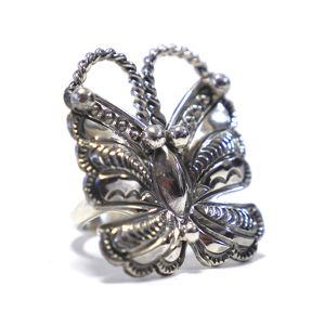 Navajo Sterling Silver Papillon Ring by Randy Boyd
