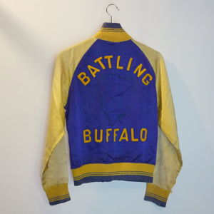 BRESLER 1950's Satin Button Stadium jumper