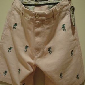 "BERLE/バール USA | 【超特価SALE!!! 50%OFF】 EMBROIDERY CHINO SHORTS ""GECO"" PINK"
