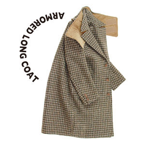 Armored Long Coat  [Brown check]