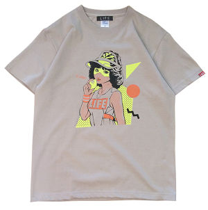 80's SUPPA  TEE/ CEMENT