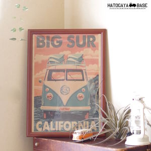 ワーゲンバスポスター BIG SUR CALIFORNIA [WBPSBS01]