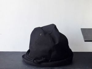 LINEN ROPE HELMA HAT | BLACK