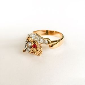 rhinestone animal ring #13[r-61]