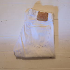"Levi's 1990's 501 ""White,Made in USA"" W31 L30"